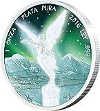 Power Coin Libertad Frozen Rhodium Aurora 1 Oz Moneda Plata Mexico 2016