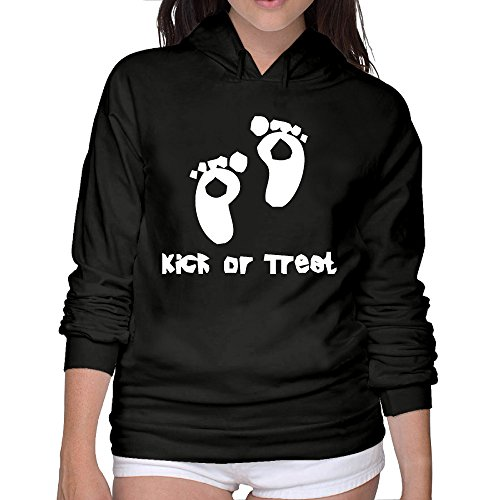 Woman Pregnancy Halloween Costumes Best Hooded Sweatshirt 100% Cotton (Homemade Halloween Makeup Zombie)