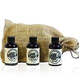 brand Beard Oil Three Pack By Mountaineer Brand: WV Timber, WV Coal & WV Barefoot: Three, 2 ounce bottles