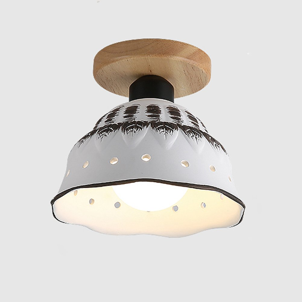 Ceiling Lights YXGH- Northern Europe Simple Small Japanese-Style Entrance Log Aisle Light Corridor Stairs Cloakroom Bay Window Balcony Home Fixture Children's Ceiling lamp (Color : B)