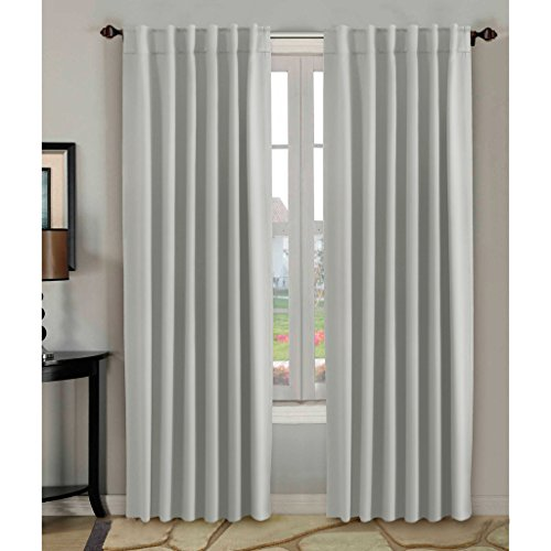 HVersailtex Thermal Insulated Blackout White Curtains 52