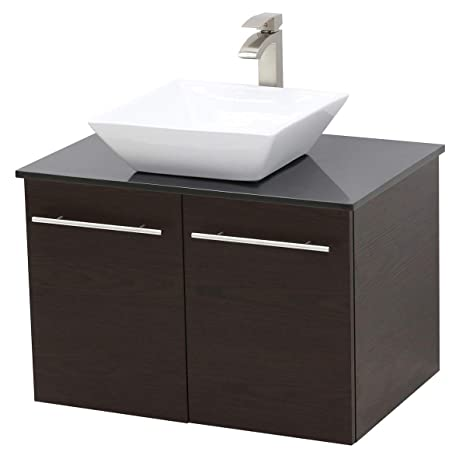 huge selection of 03407 95c86 Amazon.com: WindBay Wall Mount Floating Bathroom Vanity Sink ...