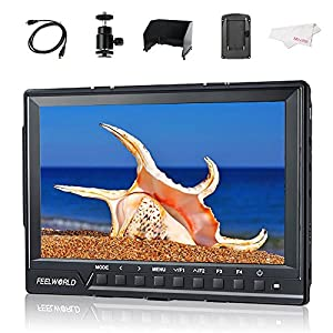 "Feelworld FW760 7"" IPS Ultra-thin 1920x1200 HD On-Camera Video Monitor HDMI with Histogram, Zebra for DSLR Cameras"