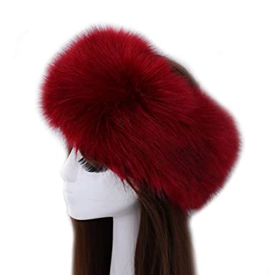 29690a6c4f8 YMCHE Women s Russian Faux Fur Hat for Ladies
