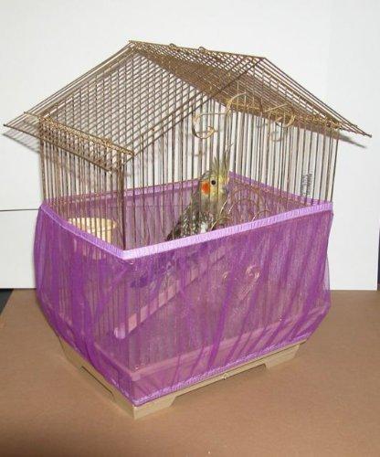 Purple Sheer Guard Bird Cage Skirt Small (Purple) by Sheer Guard