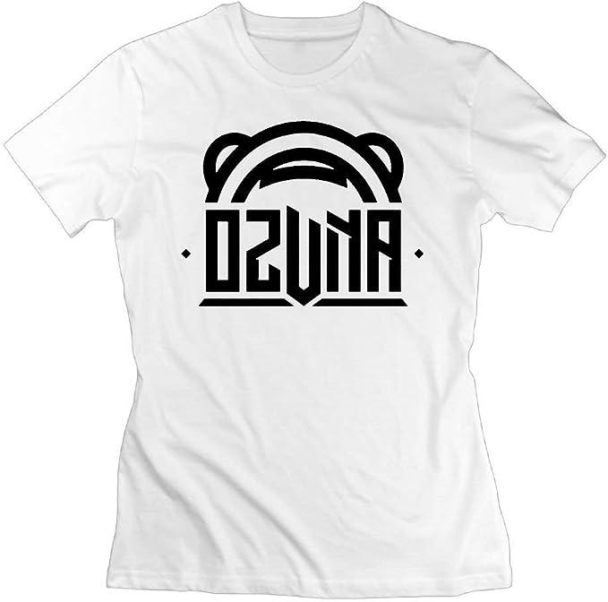 Camisetas Ozuna Bear Logo Mujer Algodón Manga Corta Blanco: Amazon ...