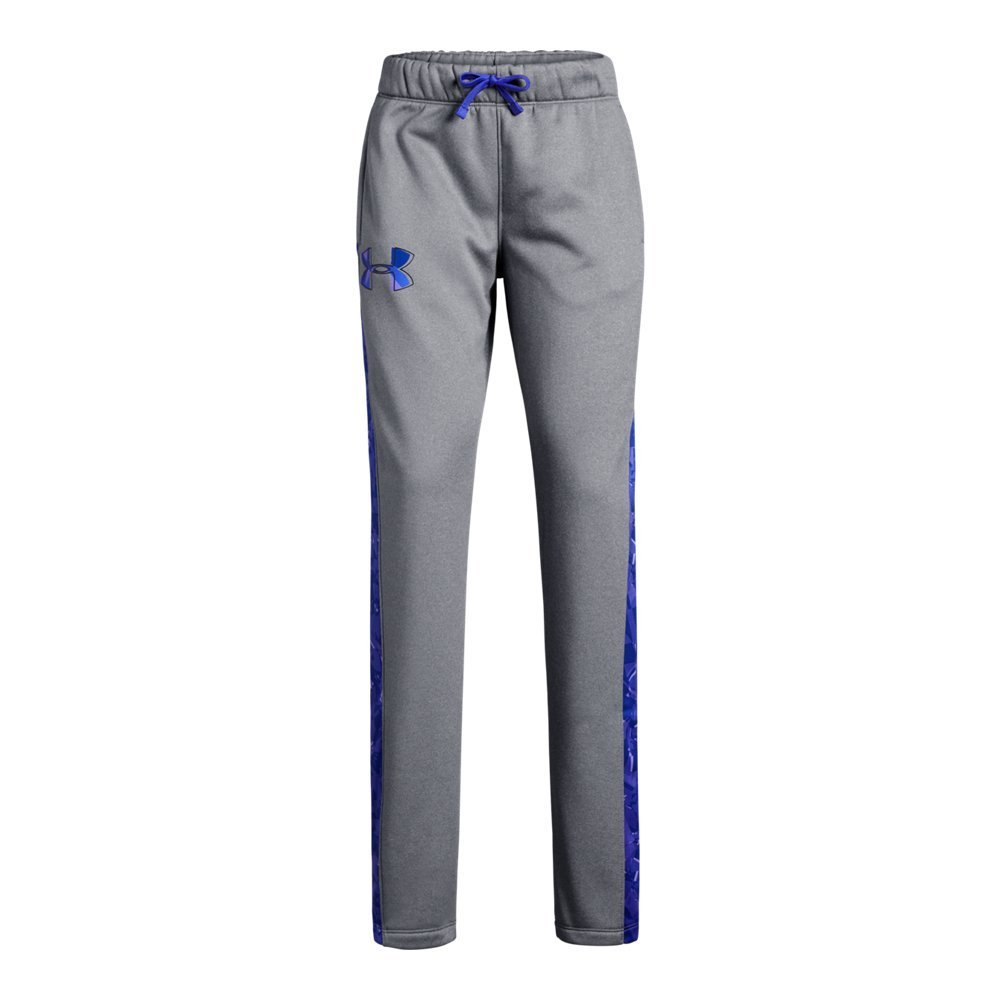 Under Armour Girls Armour Fleece Pants, Steel Light Heather (035), Youth X-Large by Under Armour