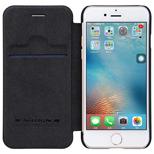 Nillkin ip7-qin-black Étui en cuir pour iPhone 7, noir