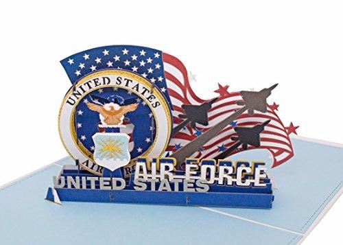 AITpop hand-crafted greeting card 3D Pop Up Card_US Air Force by AITpop