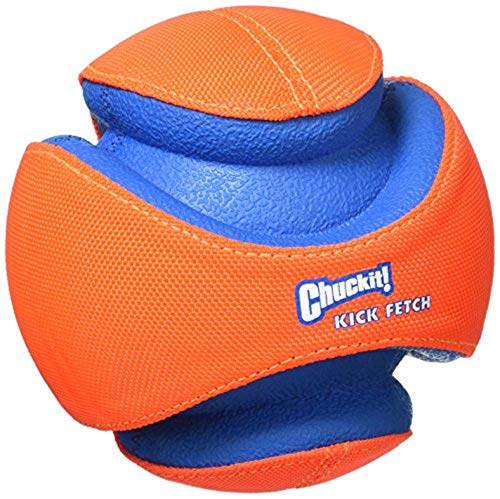 Ball Dog Toy Toys - Chuckit! Kick Fetch Ball Dog Toy Interactive Play 2 Sizes Orange/Blue
