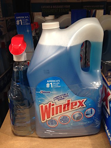 Windex Orginal Glass Cleaner 32oz/176oz (5.6qt) (pack of 6) A1 by Windex