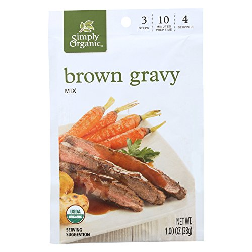 Simply Organic Vegetarian Brown Gravy Seasoning Mix - Case of 12 - 1 oz. (Organic Simply Gravy Brown)
