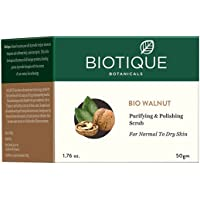 Biotique Walnut Purifying and Polishing Scrub for All Skin Types, 50g