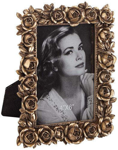 Roses Picture Frame in Antique Gold (Antique Gold Rose)