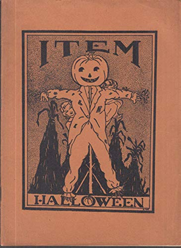 Dorchester High School for Girls THE ITEM 10 1932 prose poetry Halloween cover -