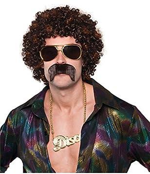 Amscan - 842255-55 - Set Disco peluca y bigote