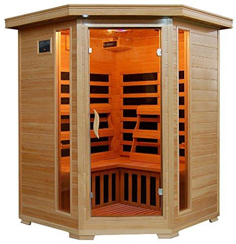 Santa Fe - 3 Person Carbon Corner Heatwave Sauna!