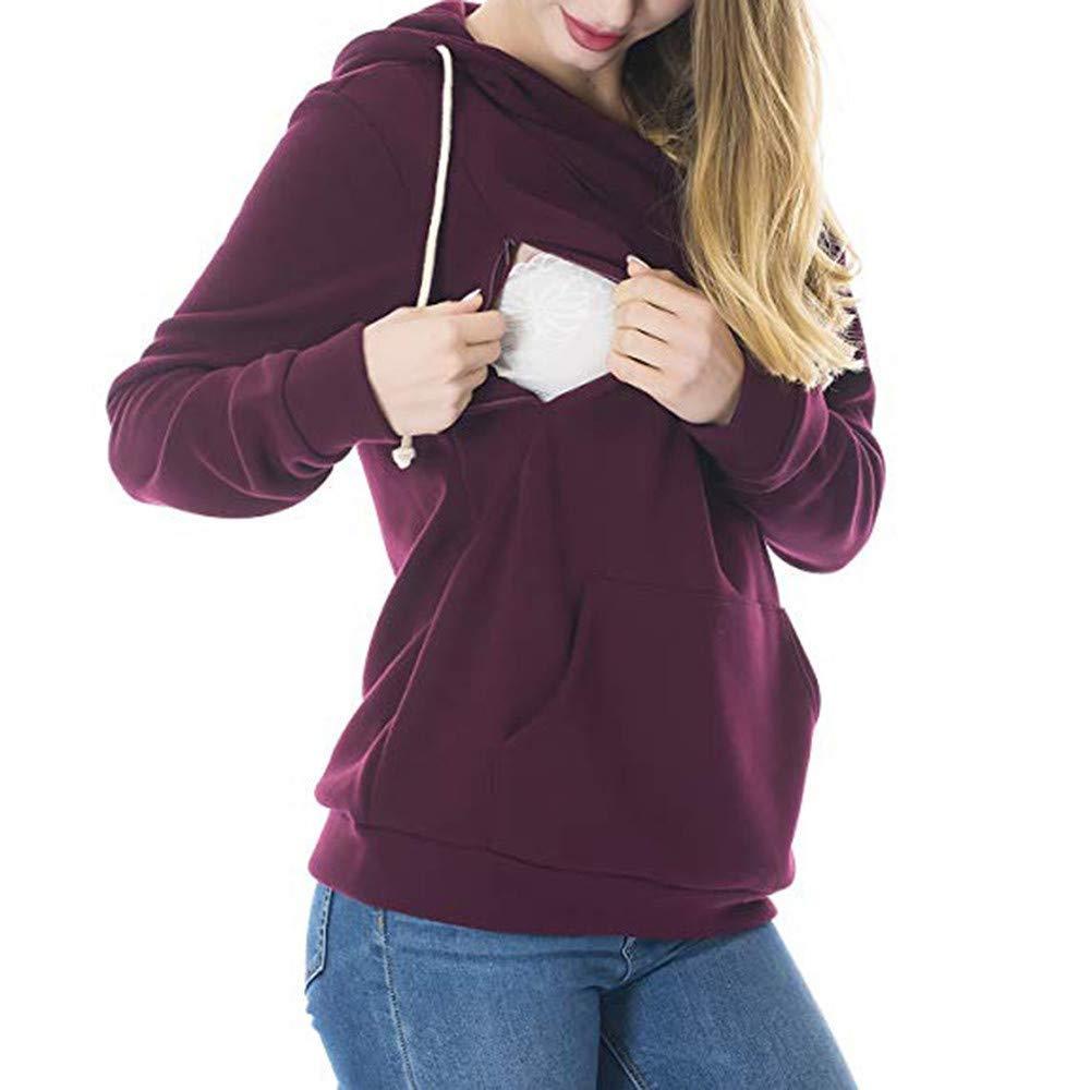 VECDY Damen Pullover,Räumungsverkauf Herbst Damen Langarmshirt Printed Hoodie Casual Tops Bluse Lässiger Kapuzenpullover mit Sportpullover(Weiß,38)