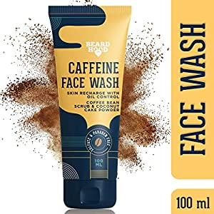 Beardhood Caffeinated Face Wash Cleanser With Coffee Bean Extract & Coconut Cake Powder (Sulfate & Paraben Free), 100 ml