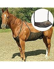 DASNTERED Häst anti-myggskyddsnät, skyddsnät justerbar anti-myggnät nät flugskydd elasticitet häst buken