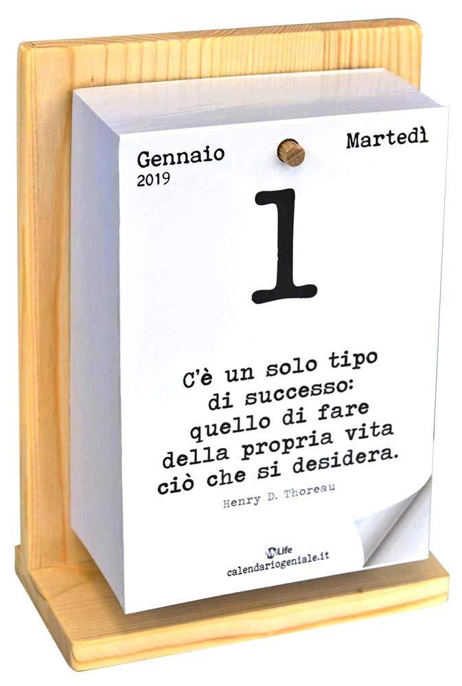 Calendario Giornaliero Con Frasi.Calendario Geniale 2019 Con Supporto Amazon It Libri