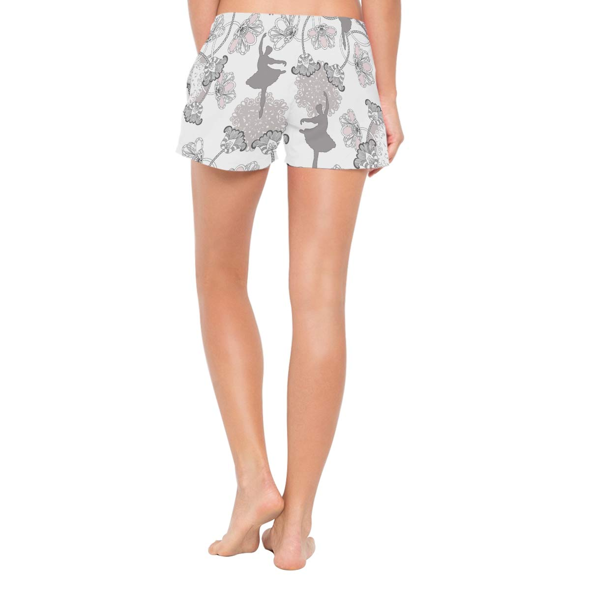 Ballet Lace Womens Sport Beach Swim Shorts Board Shorts Swimsuit with Mesh Lining