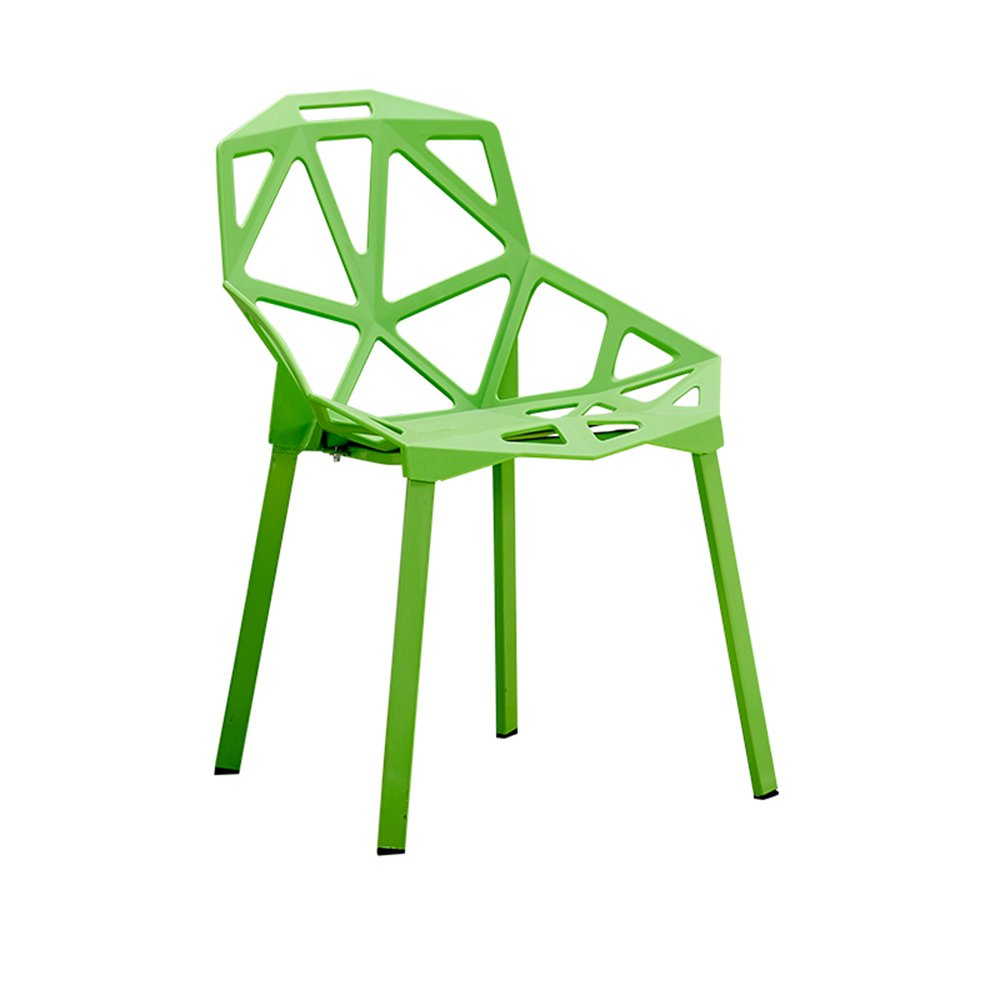 Xin-stool Chairs/Household Simple Plastic Stools/Individual tea shop tables/chairs/European dining table/chair/Creative lounge chair/Fashion stool/465581cm (Color : Green)