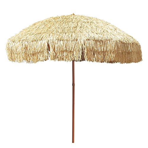 - Large 8 Hula Patio Beach Umbrella & Bag Hawaiian Tiki Canopy Outdoor Decor