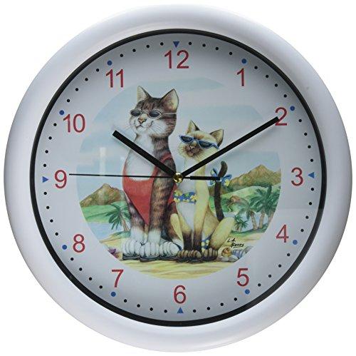 Kole Imports OS571 Laid Back Cats Wall Clock