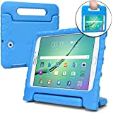 COOPER DYNAMO Kids case compatible with Galaxy Tab S2 9.7 | Shock Proof Heavy Duty Kidproof Cover for Kids | Girls Boys | Kid Friendly Handle Stand, Screen Protector | Samsung SM-T810 T815 T817 (Blue)