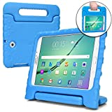 Samsung Galaxy Tab S2 8.0 case for kids [SHOCK PROOF KIDS TAB S2 CASE] COOPER DYNAMO Kidproof Child Tab S2 8 inch Cover for Boys, Toddlers | Kid Friendly Handle & Stand, Light, Screen Protector (Blue)