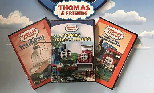 (3 DVD Thomas Set - Thomas & Friends Wooden Tank Train Engine Sealed)