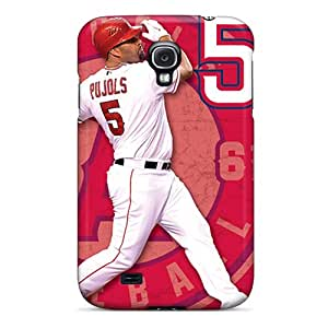 Great Cell-phone Hard Cover For Samsung Galaxy S4 With Support Your Personal Customized Realistic Los Angeles Angels Pattern CharlesPoirier