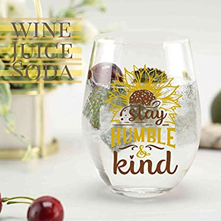 Regalos de girasol para amantes del girasol, taza de copa de vino sin tallo de girasol para mujer, los mejores regalos de girasol para el mejor amigo, Navidad, cumpleaños
