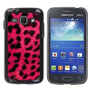 TopCaseStore / la caja del caucho duro de la cubierta de protección de la piel - Africa Pink Black Pattern Spots Animal - Samsung Galaxy Ace 3 GT-S7270 GT-S7275 GT-S7272