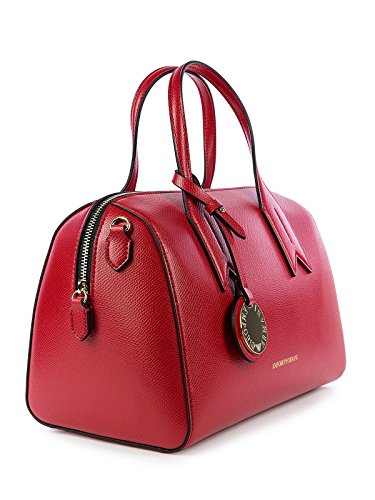 Negro Twin Armani Handbag Emporio Handle Black Red Mujer 5qXww48p