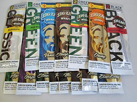 (SuperStore77 Zig Zag Wraps Variety Pack 10 Flavors 2 Paper in Each Pack Each Free Trademark Gift Included by SuperStorey77)
