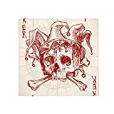 Joker Red Crown Skeleton Poker Card Pattern Anti-slip Floor Pet Mat Square Home Kitchen Door 80cm Gift