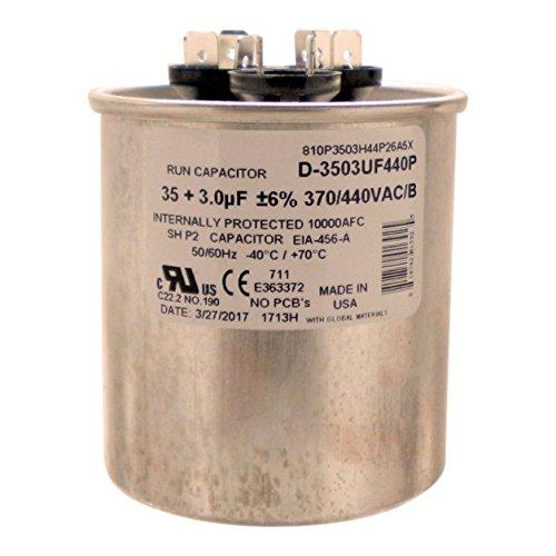 35 uf round capacitor 370 vac - 9