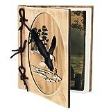 Rustic Wooden Eagle Scene 36 Picture Photo Album, 5x7, 8-inch