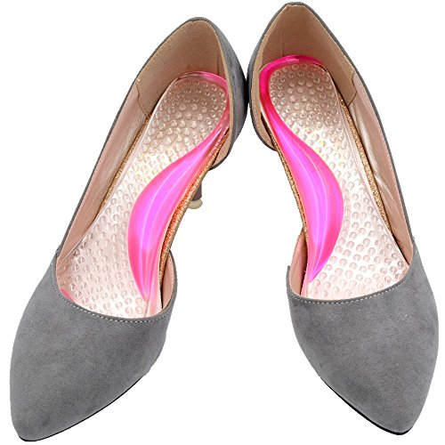 Arch Support Shoe Inserts for Women High Heels Relief from High Arch, Flat Feet, Plantar Fasciitis( Size 8 or Less