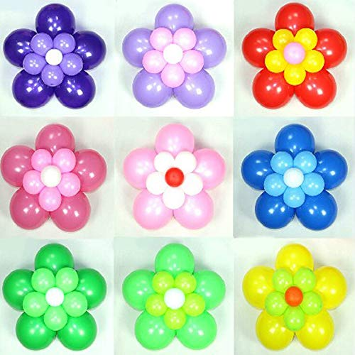Silverkial 10PCS / Set Plum Flower Shape Balloon Modeling Clip per Decorazioni per Feste Flower Balloon Clips Accessori per Palloncini