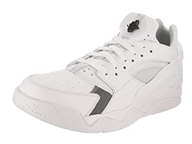 new styles ae04e d07b1 Nike Mens Air Flight Huarache Low WhiteBlack Pure Platinum Basketball  Shoe 7 Men US