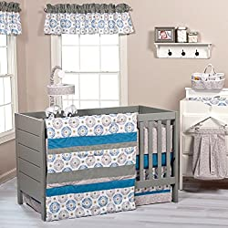Trend Lab Boy's 3 Piece Monaco Crib Bedding Set
