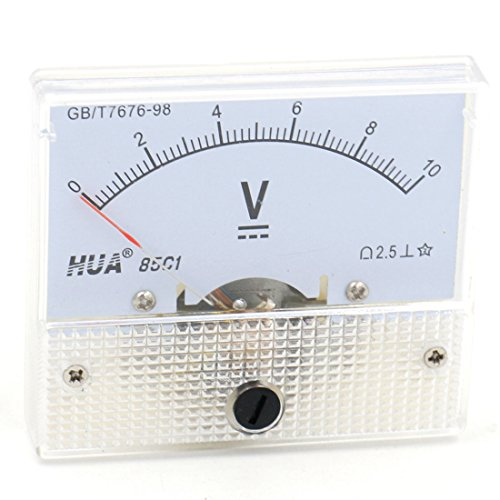 Baomain Analog Voltmeter 85C1 DC 0-10V Rectangle Analog Volt Panel Meter Gauge