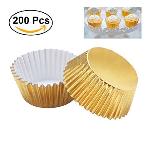 mini cupcake liner gold - 5