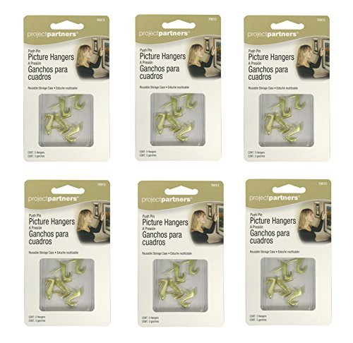 Set of 30 Project Partners Push Pin Picture Hangers
