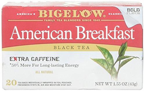 Bigelow Tea Black American Breakfast 20 bags (pack of 6) (Best American Tea Brands)
