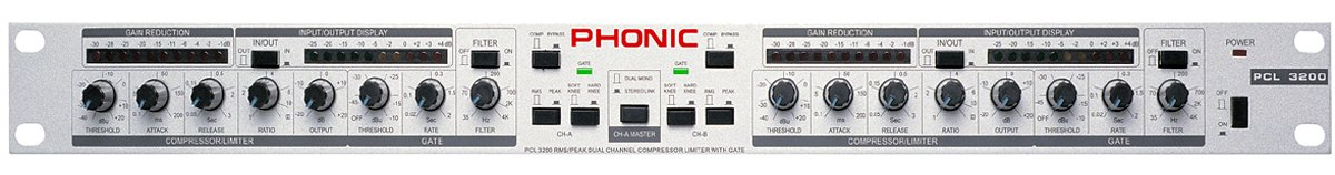Phonic PCL 3200 - Dual Channel Compressor and Limiter