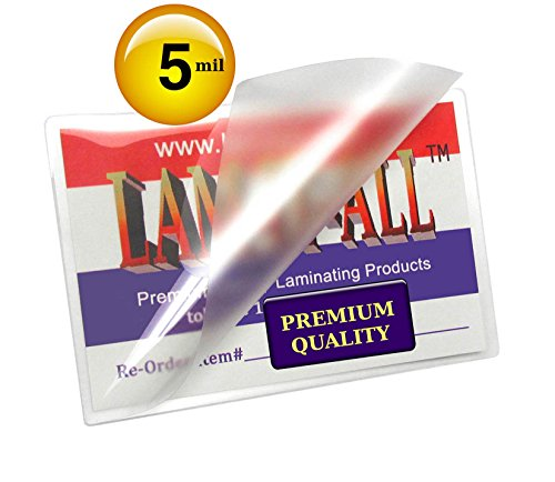 Laminating Pouches 5 Mil [Pack of 100] Clear 4x6 by LAM-IT-ALL (Lam Card)